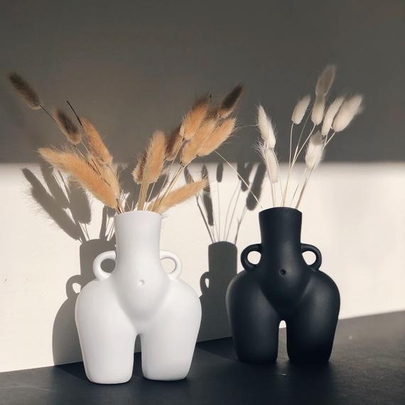 IN STOCK! Bum Vase UK, Black or White Cheeky Vase, Booty Vase, Woman Female Body Vase, Bust Vase, Ho