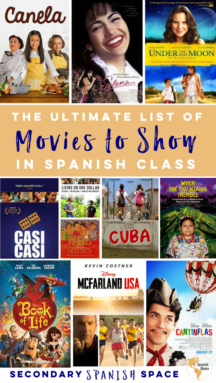 Sometimes movies are just what you need in class. Used appropriately, they can be a perfect way to spark interest when beginning a unit, fo... #spanishthings
