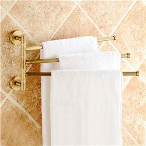 Badzubehör Handtuchhalter eu lager handtuchhalter 3 armig schwenkbar bad antik messing