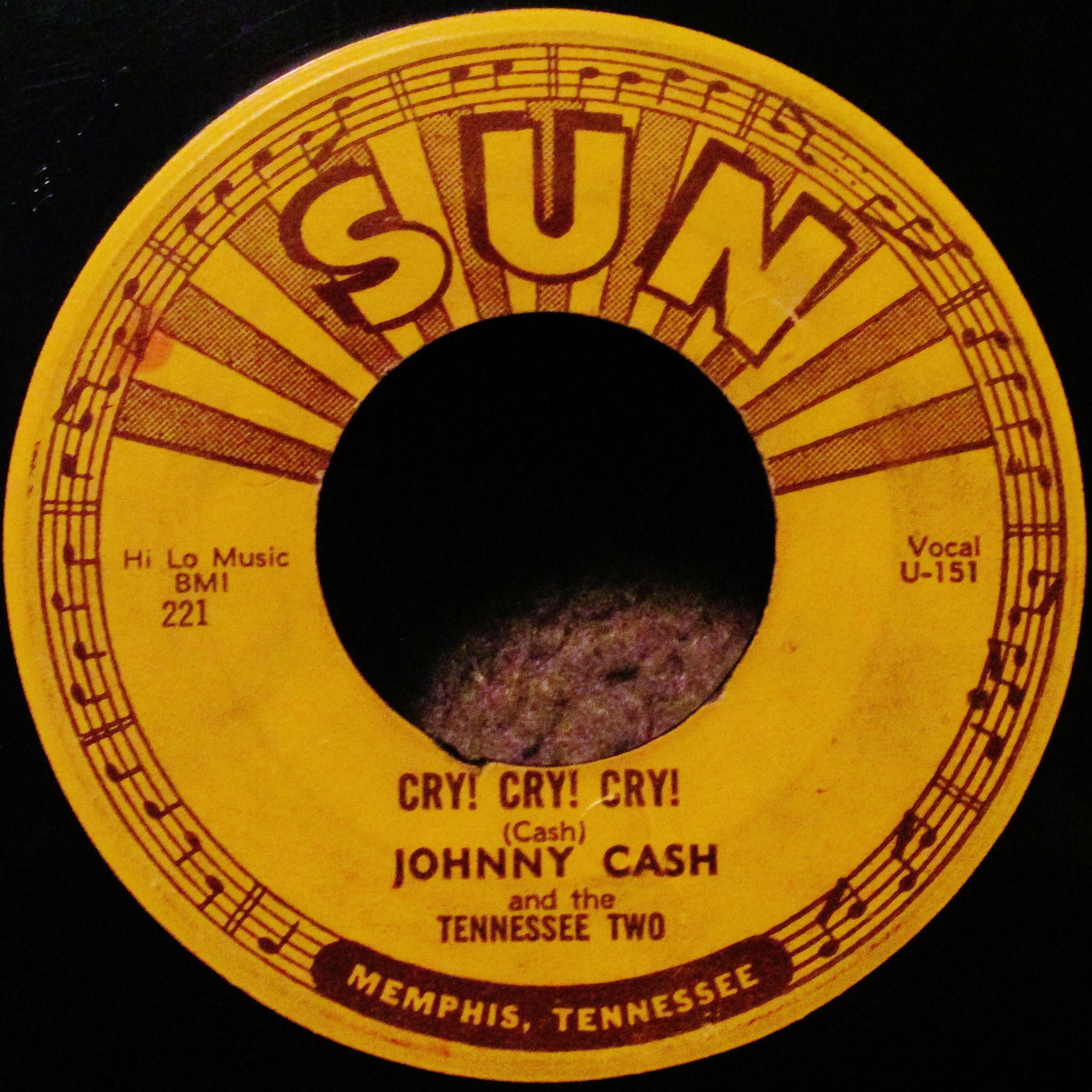 Johnny Cash Cry! Cry! Cry! Sun Records (1955) | Sun records ...