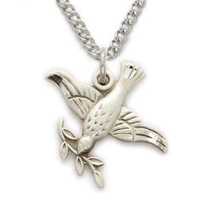 Sterling silver dove necklace in an olive branch design httpwww sterling silver dove necklace in an olive branch design httptruefaithjewelry aloadofball Images