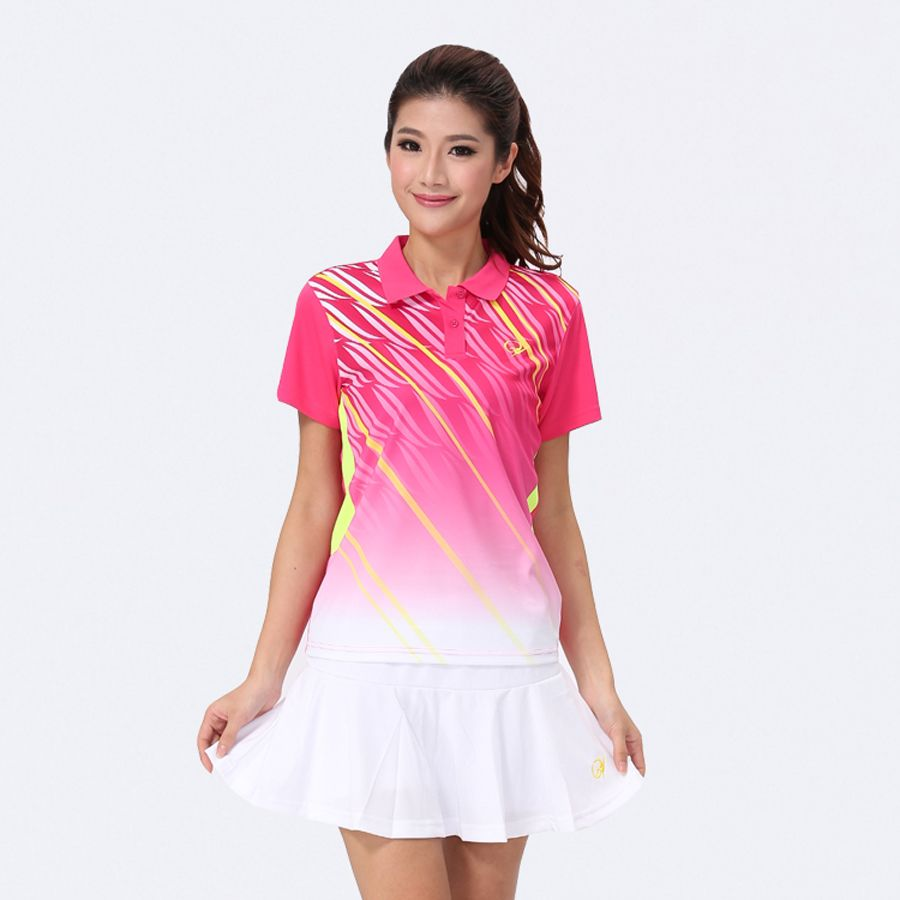 Women S Badminton Sports Clothes Table Tennis Shirt Tennis Jersey Female Breathable Soft Clothes Jersey With Skirt 201 Tennis Shirts Sport Outfits Soft Clothes