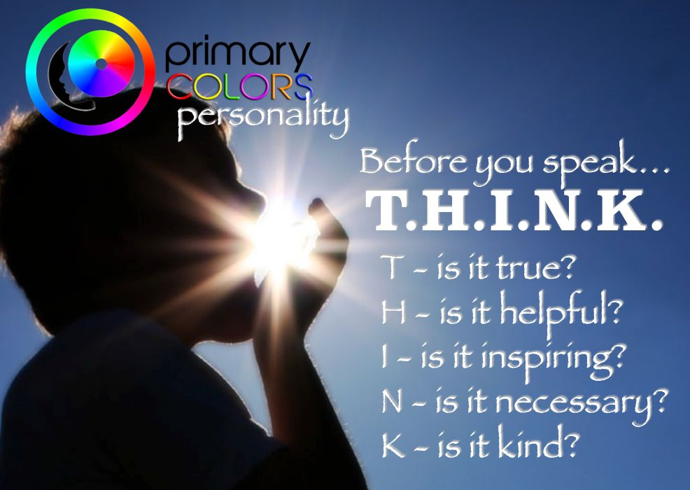 Time to think our way to a  better world. Best colors Personality Test http://www.PrimaryColorsPersonality.com