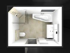De eerste kamer een complete badkamer met veel ruimte in het hart