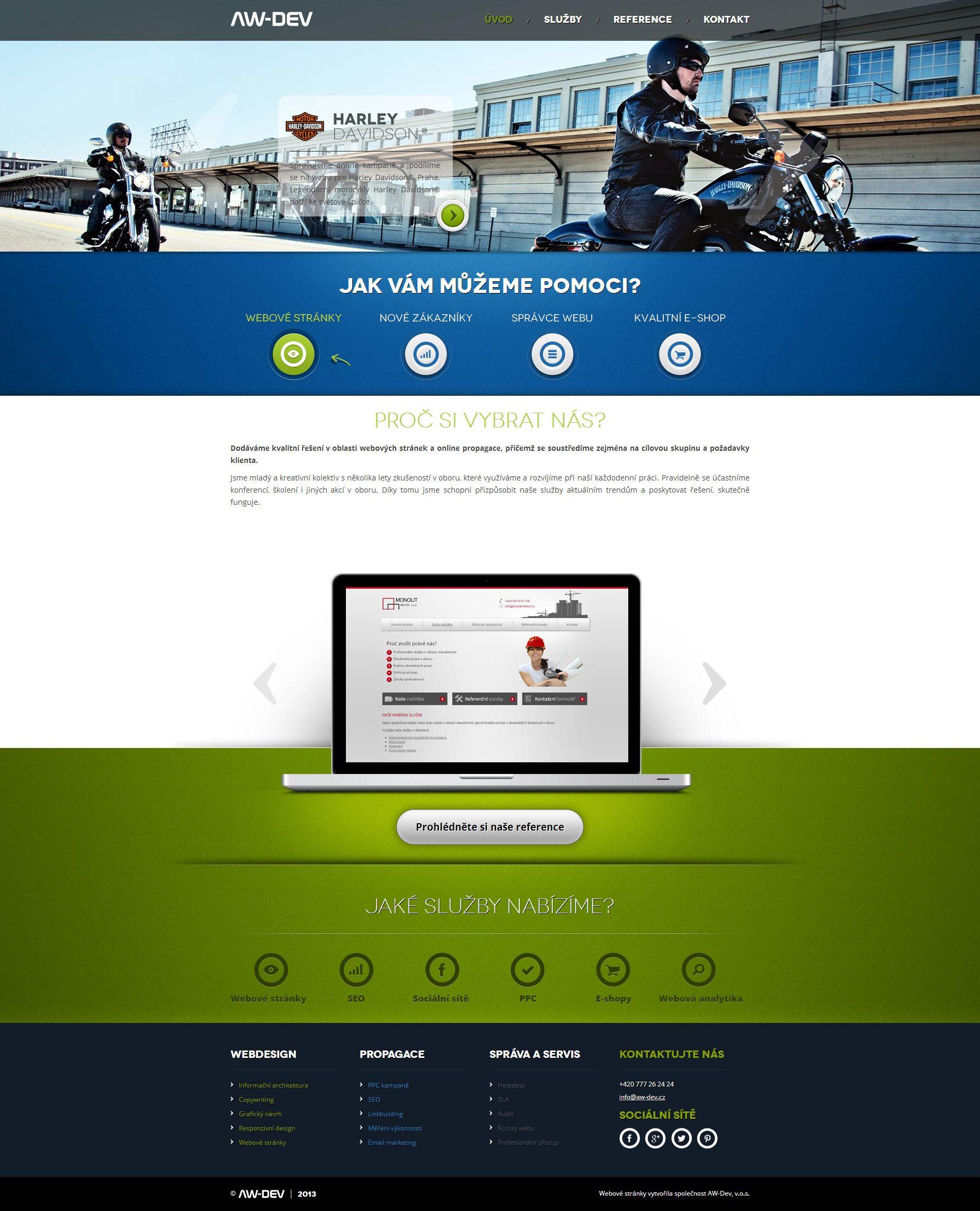 Webove Stranky Spolecnosti Aw Dev V O S Webdesign With Images Web Design Web Template Templates