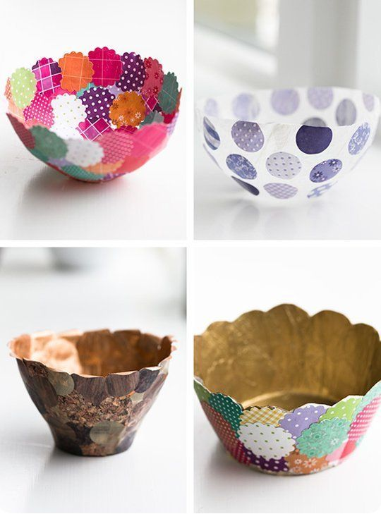 10 Easy Charming Pint Sized DIY Projects To Make For Your Home Grab Some Scrap Paper And Different Bowls These Cute Colorful