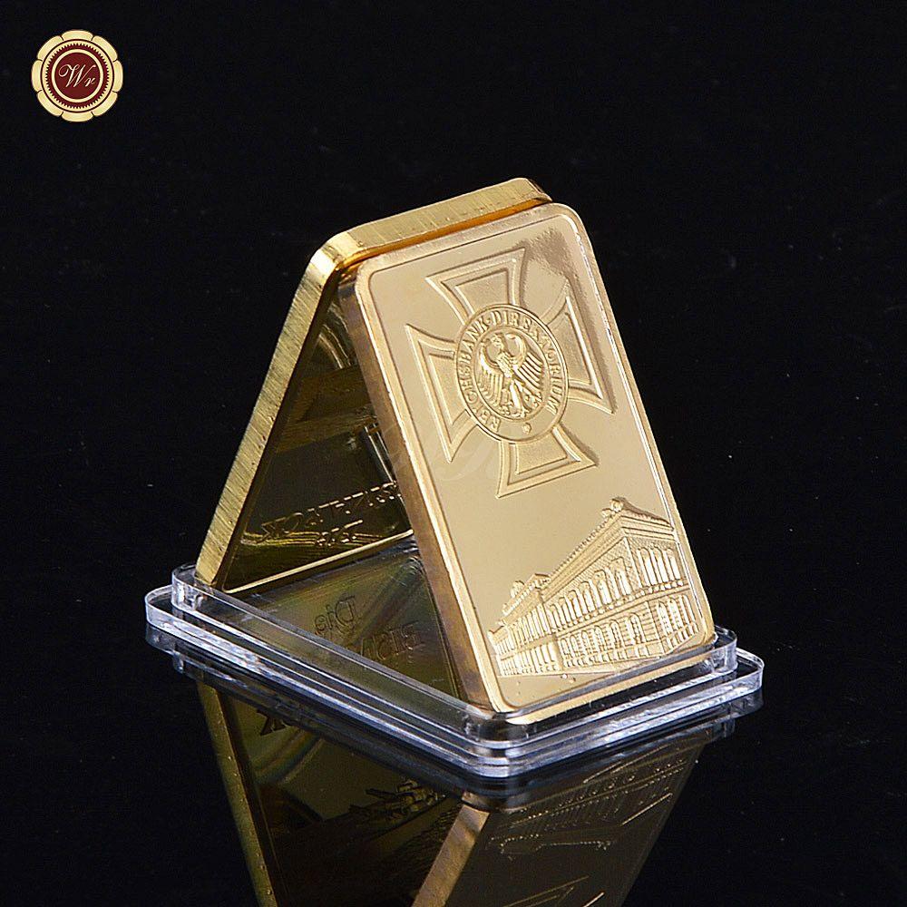 Deutsche Reichsbank 24k Gold Plated Bullion Bar German Eagle