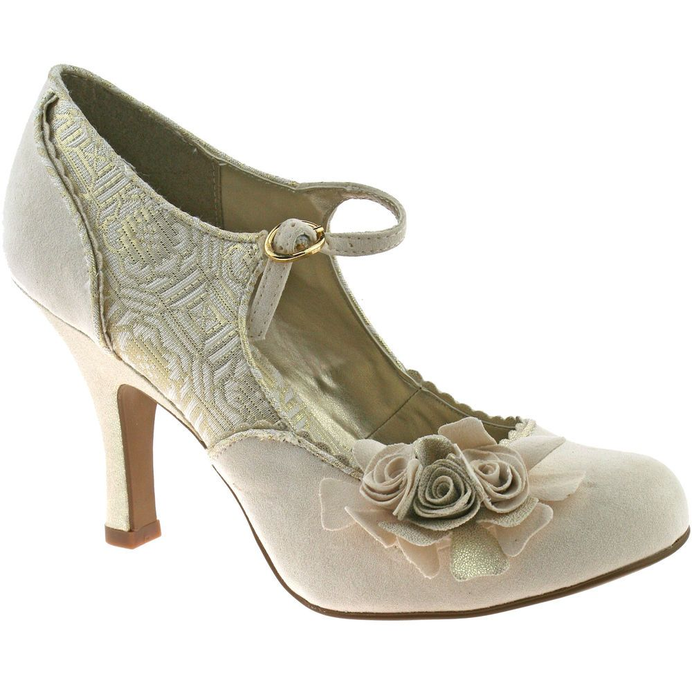 Las Ruby Shoo Hot Rod Vintage Shoes Size 3 8 Wedding 1950s Cream Emily In Clothes Accessories Women S Heels Ebay