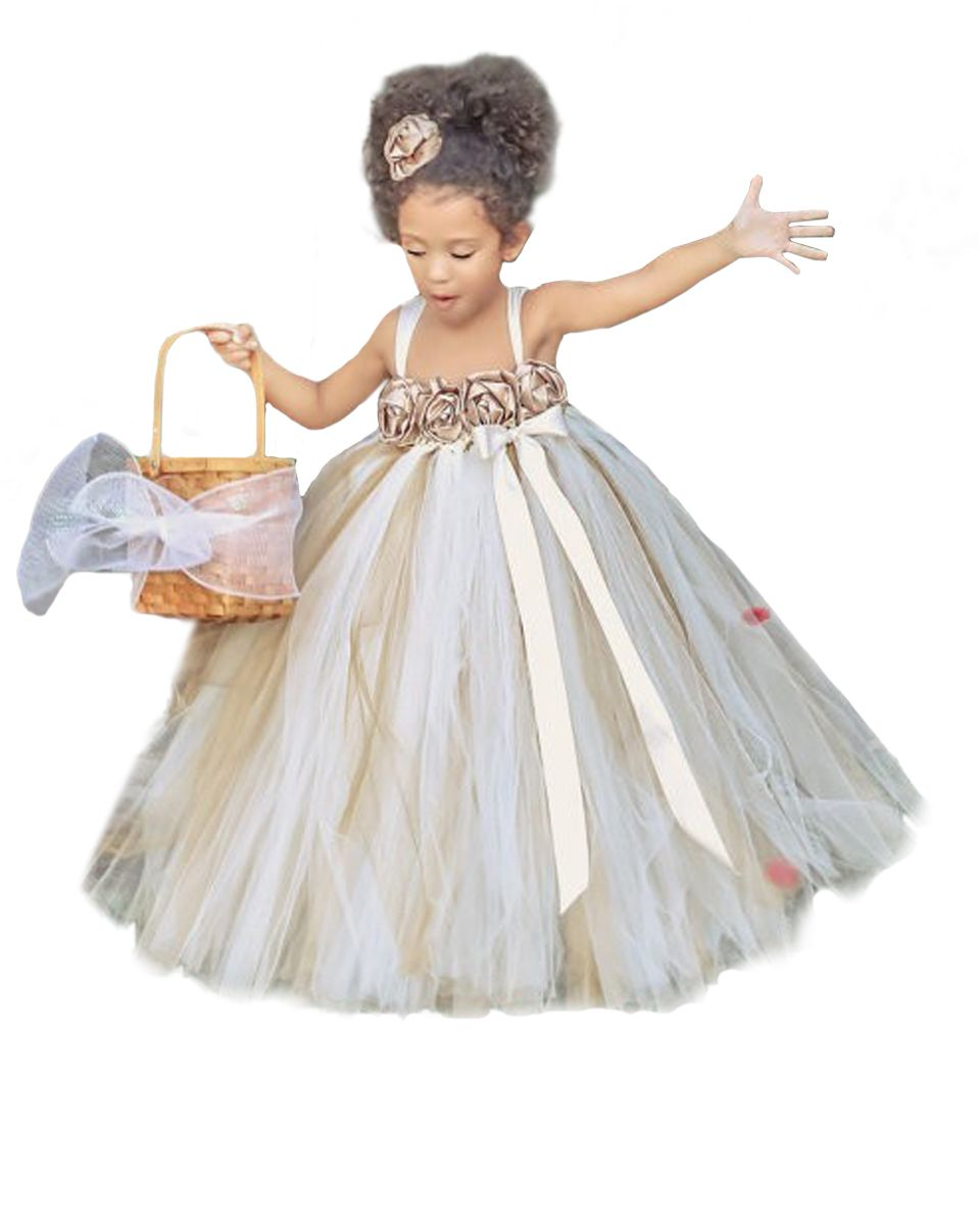 Click to buy ucuc flower girl regalos comunion ball gowns scattered