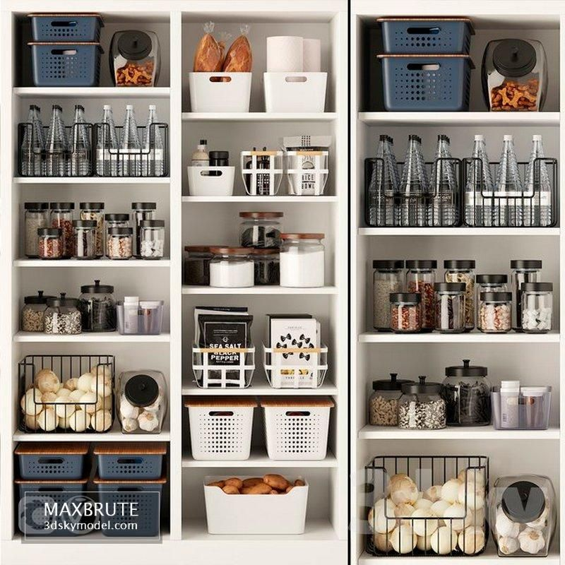 Photo of Decorative Kitchen Set 3 3d model Download Maxbrute Furniture Visualization
