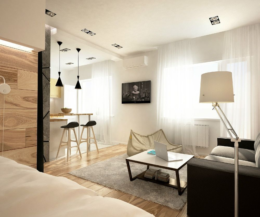 How to separate a bedroom in a studio apartment Studio
