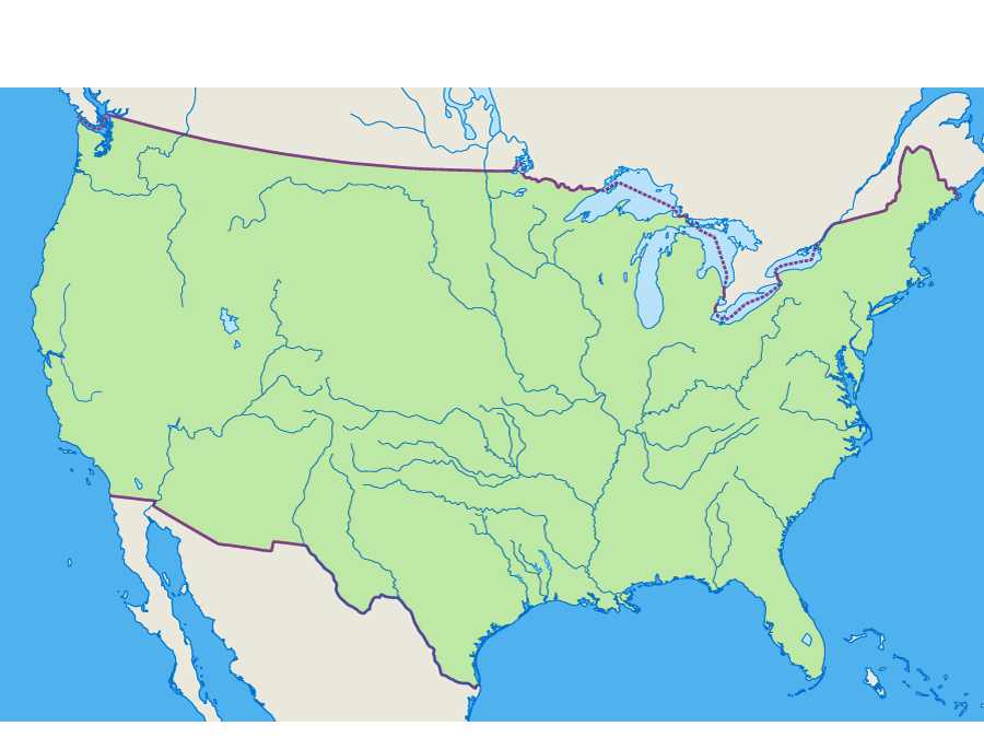 Us State Map Quiz Printable Globalinterco - Us rivers map quiz
