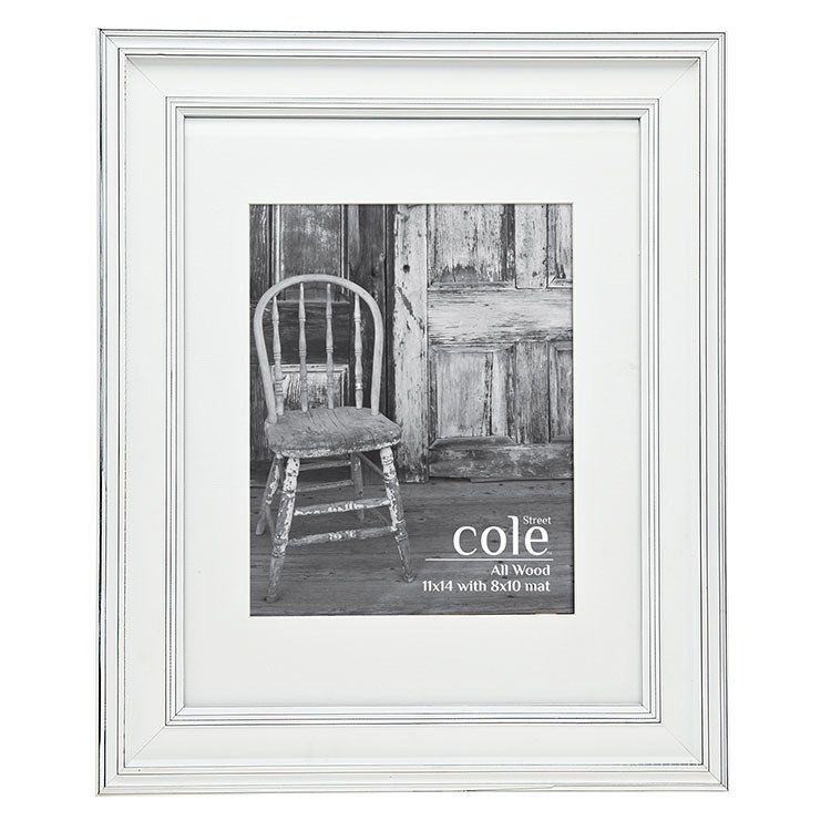 Philip Whitney Pwh 21526 Distressed White 11 X 14 Photo Frame With 8 X 10 Mat In 2020 Frame White Photo Frames White Wood