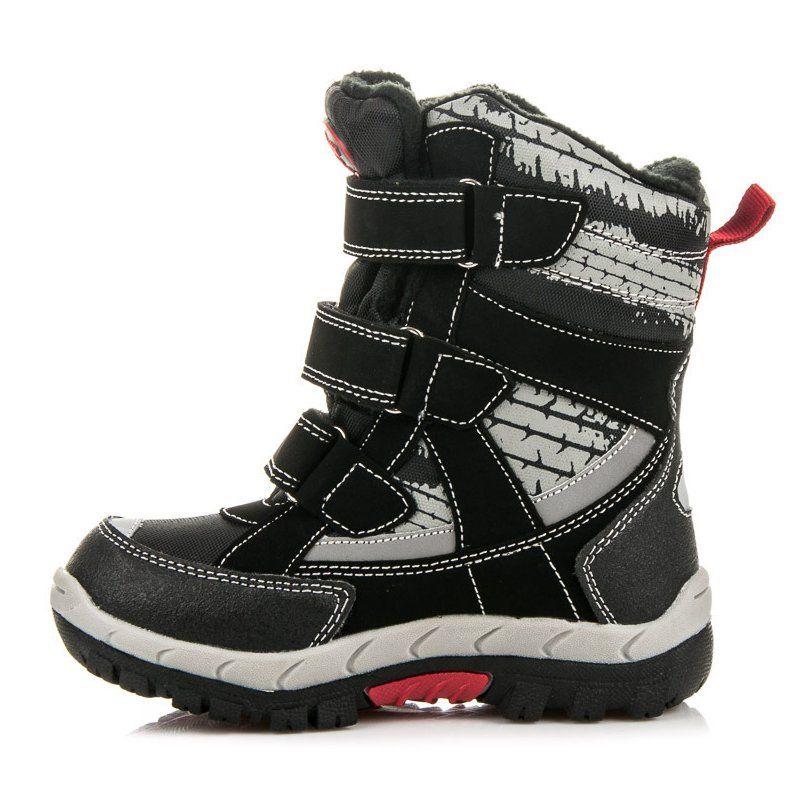 Kozaki Dla Dzieci Americanclub American Club Czarne Kozaki Dla Chlopca Boots Wedge Sneaker Winter Boot