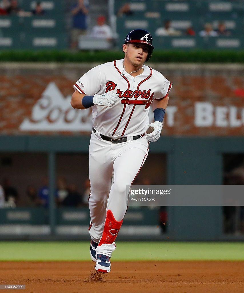 Austin Riley Of The Atlanta Braves Rounds Second Base After His First Atlanta Braves Braves Atlanta
