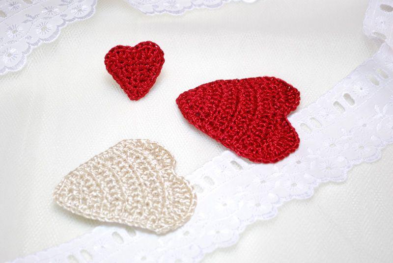 Red_hearts_hair_ring_DSC_1066 | Crochet Love | Pinterest