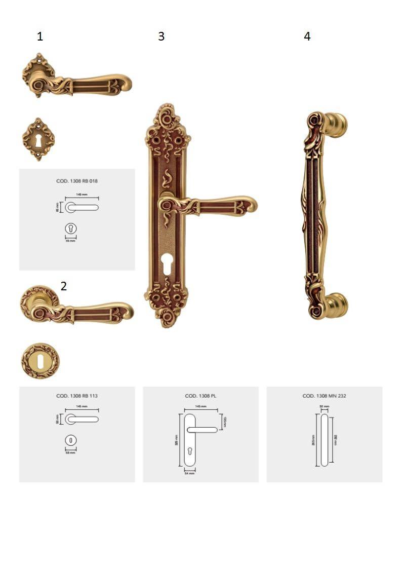 Tiffany Style Vintage Brass Door Handles Door Handles Brass Door Handles Brass Door