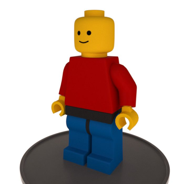 Lego Minifigure Rigged Max - 3D Model | 3D-Modeling | Pinterest ...
