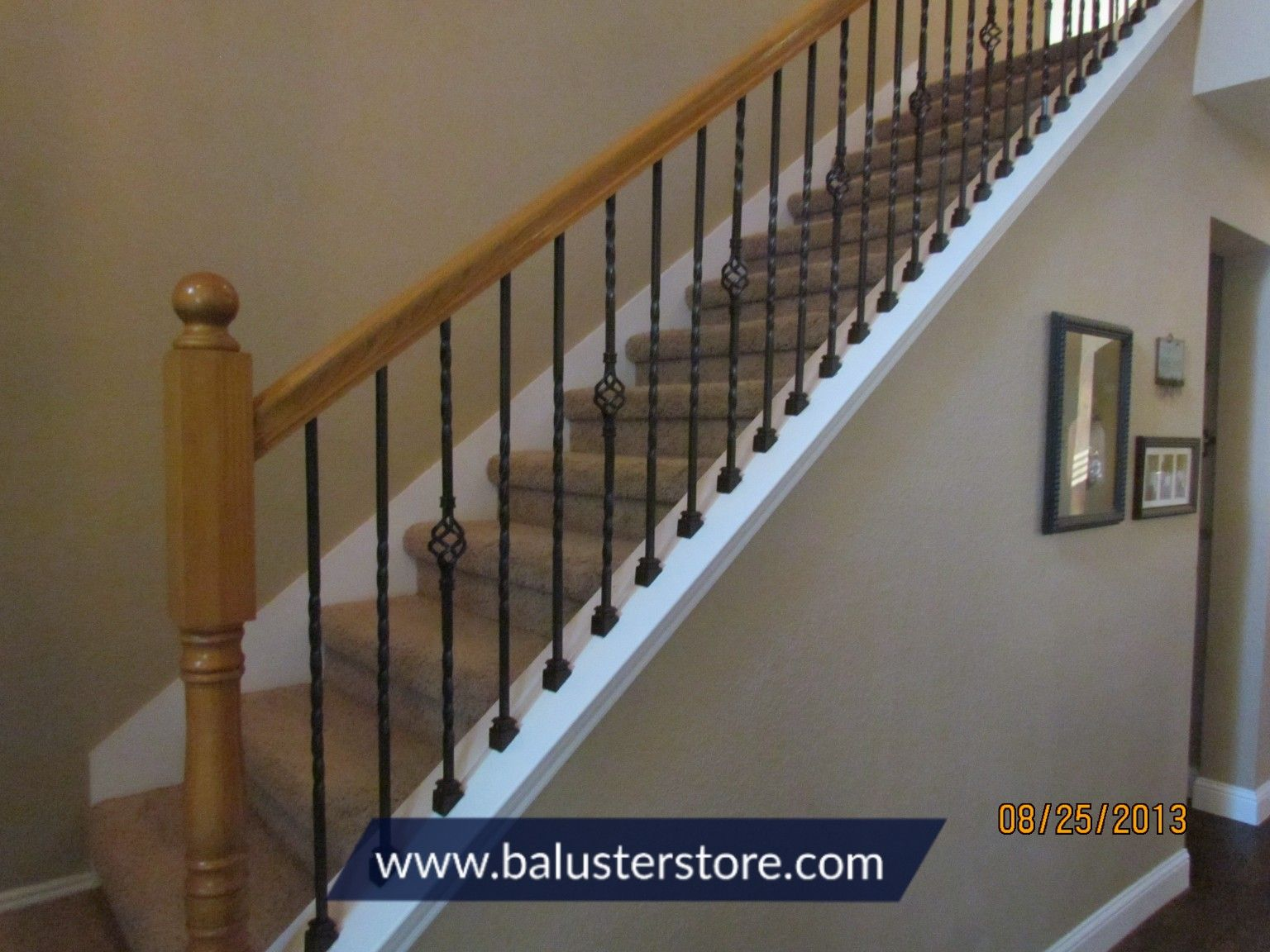 Knee Wall Balusters Carpet Stairs Iron Balusters Stair Design