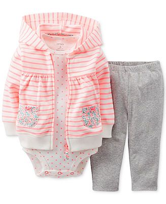 bd44c84955 Carter's Baby Girls' 3-Piece Cardigan Set - Kids - Macy's | For ...