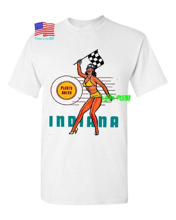 Hot Rod Racing Pin Up Girl T Shirt rockabilly vintage retro travel decal souveni…