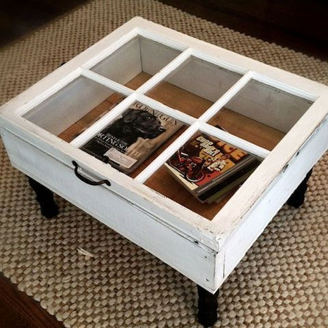 Oh And I Have An Old Window Waiting To Be Turned Into This Easy Creative Decor Ideas Coffee Table Click Pic For 38 Diy Home On A