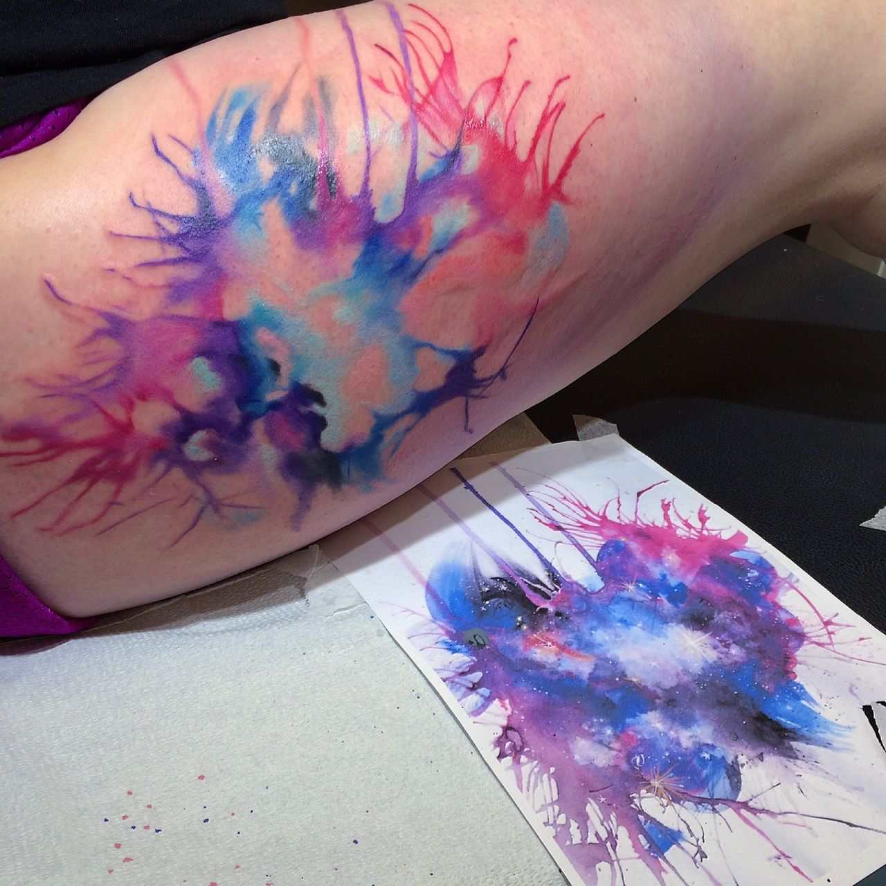 Watercolor Splash Tattoo Watercolor Splash Tattoos Watercolor