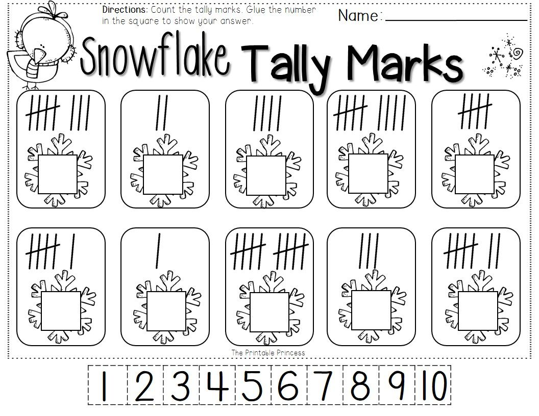 Measurement Worksheet Free Kindergarten Winter