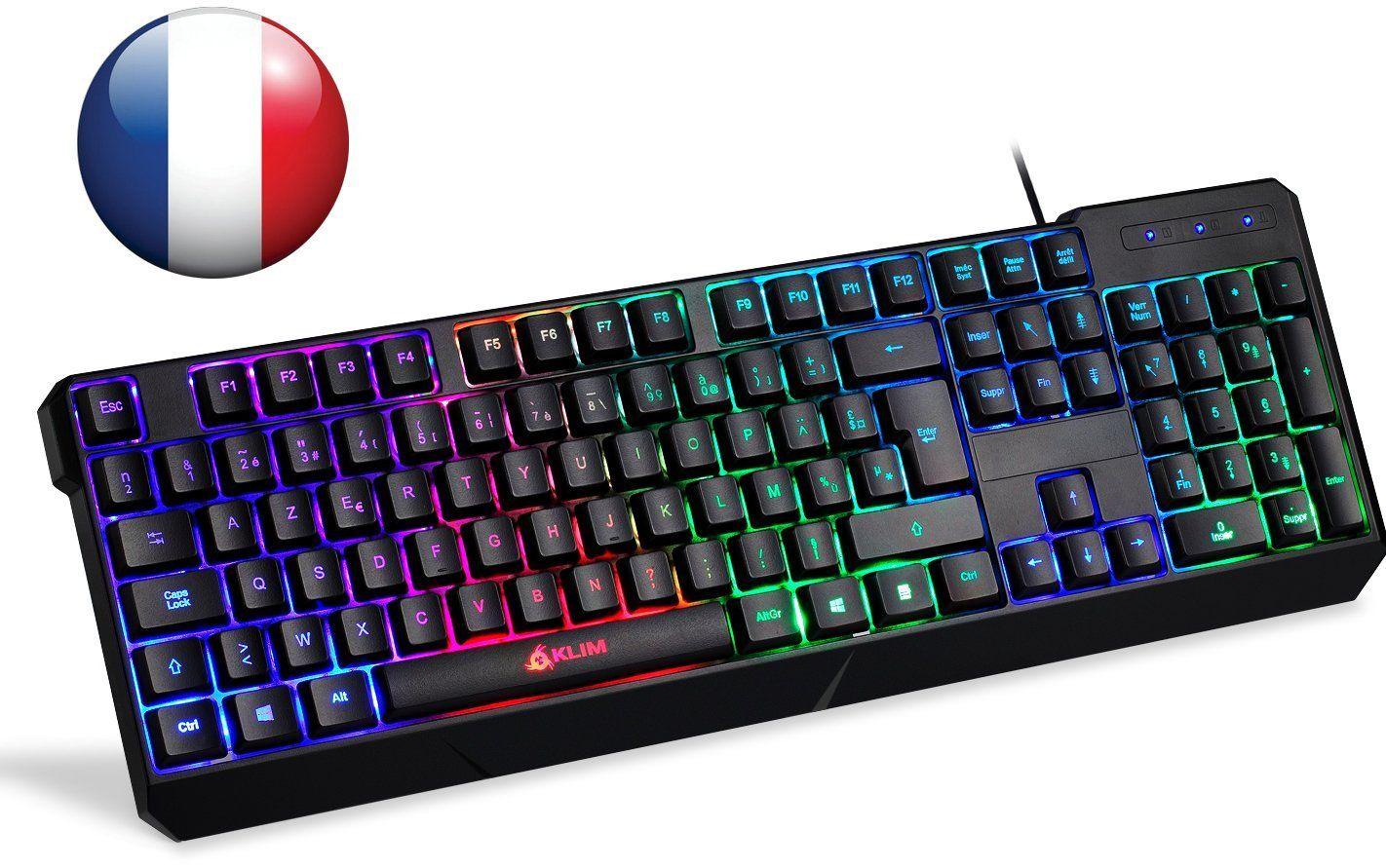 Klim Chroma Tastatur Gamer Azerty Franzosisch Mit Usb Kabel Hohe Leistung Bunte Beleuchtung Gaming Tastatur Pc Windows Mac Eur 29 90 Usb Tastatur Mac
