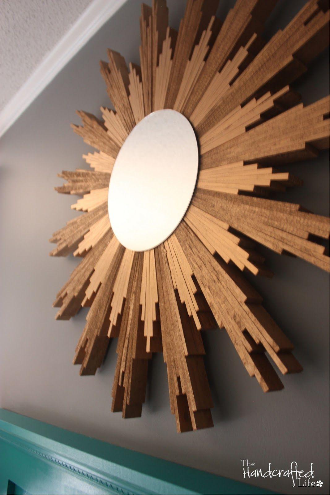 Diy Sunburst Mirror With Wood Shims Sunburst Mirror Mirror Gold Framed Mirror