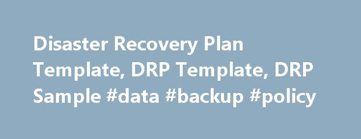 Disaster Recovery Plan Template Drp Template Drp Sample Data