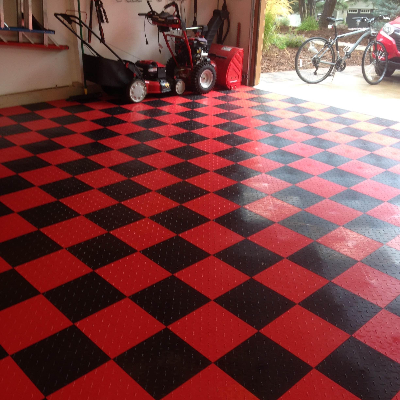 tiles flooring before photo tranform with customize garage premium floor swisstrax