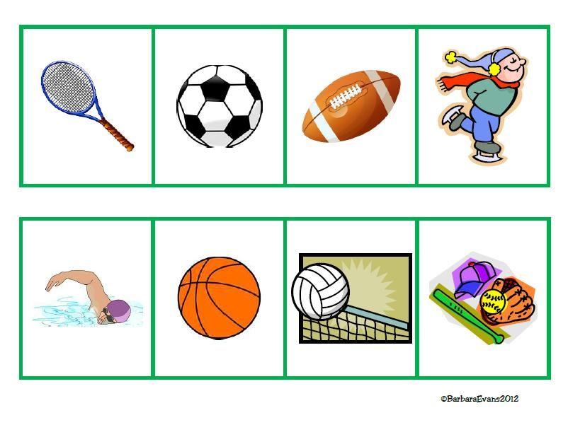 Sports Sorts for patterning, sorting, & categorizing.  $