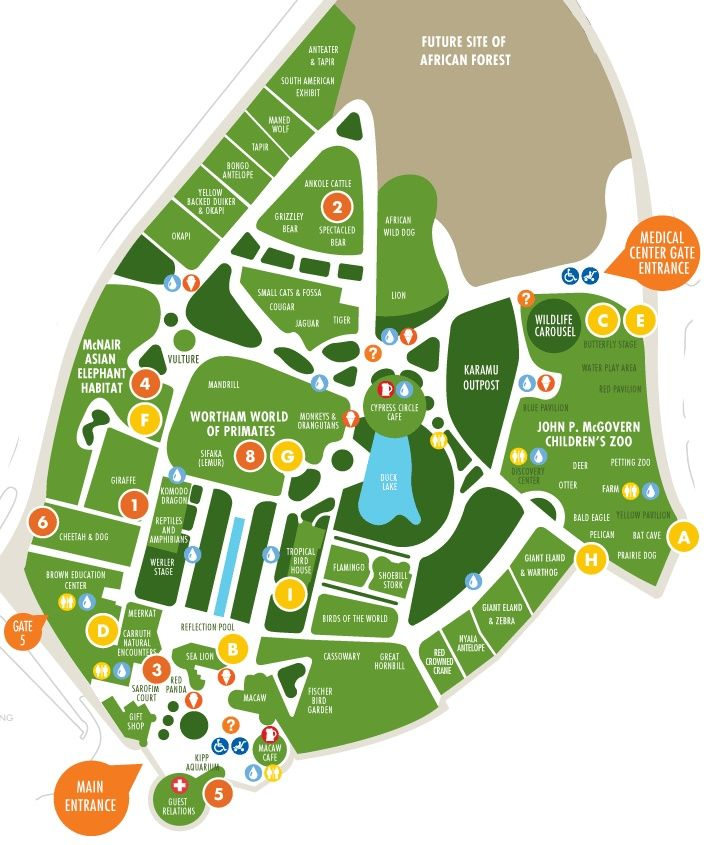 Houston zoo park map image and coupons http www for Monocle promo code