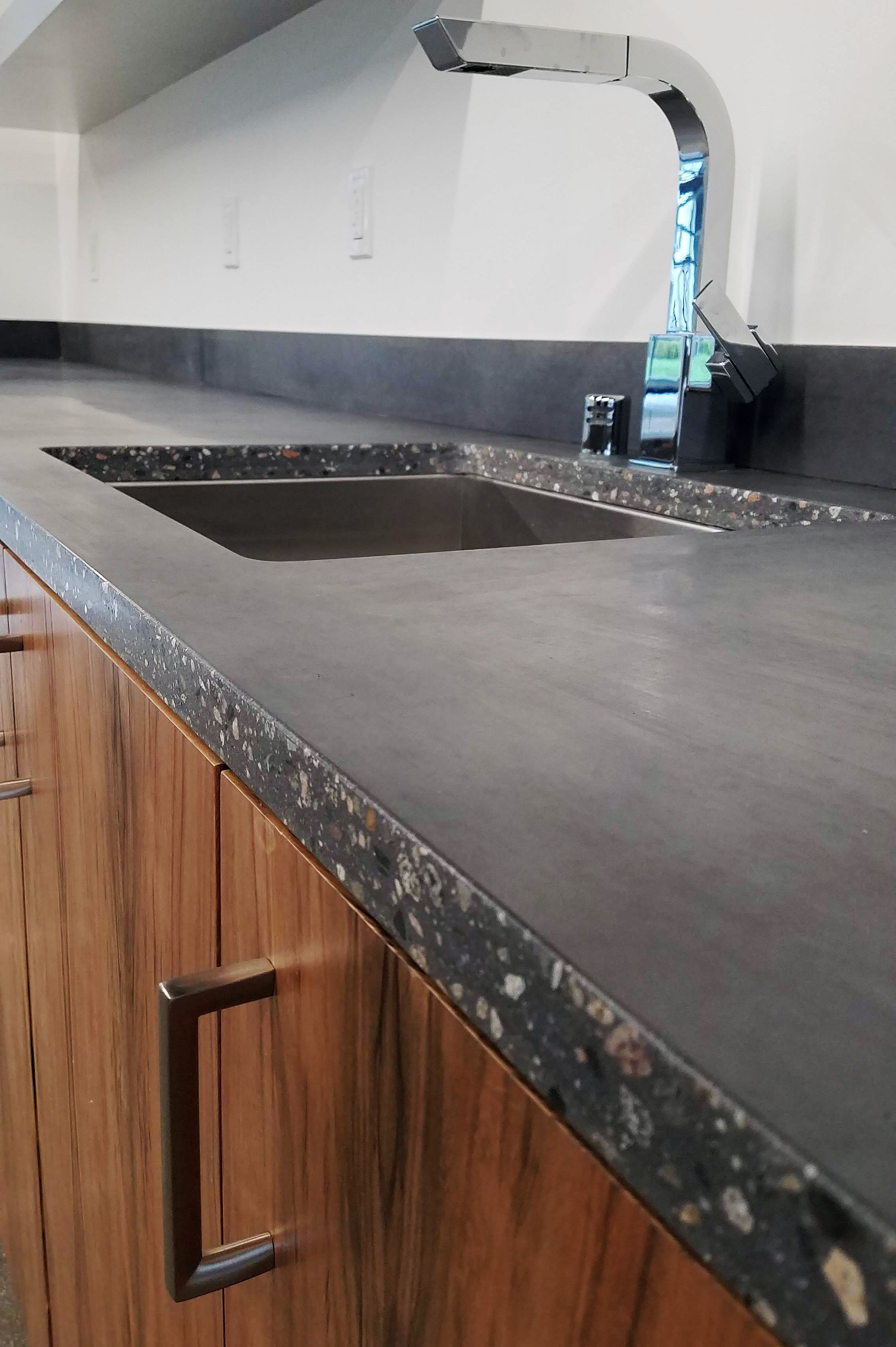 How Cool Is This Edge Detail For Counters Natural Terrazzo