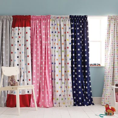 Rainbow Star Blackout Curtains For Kids Pair Susie