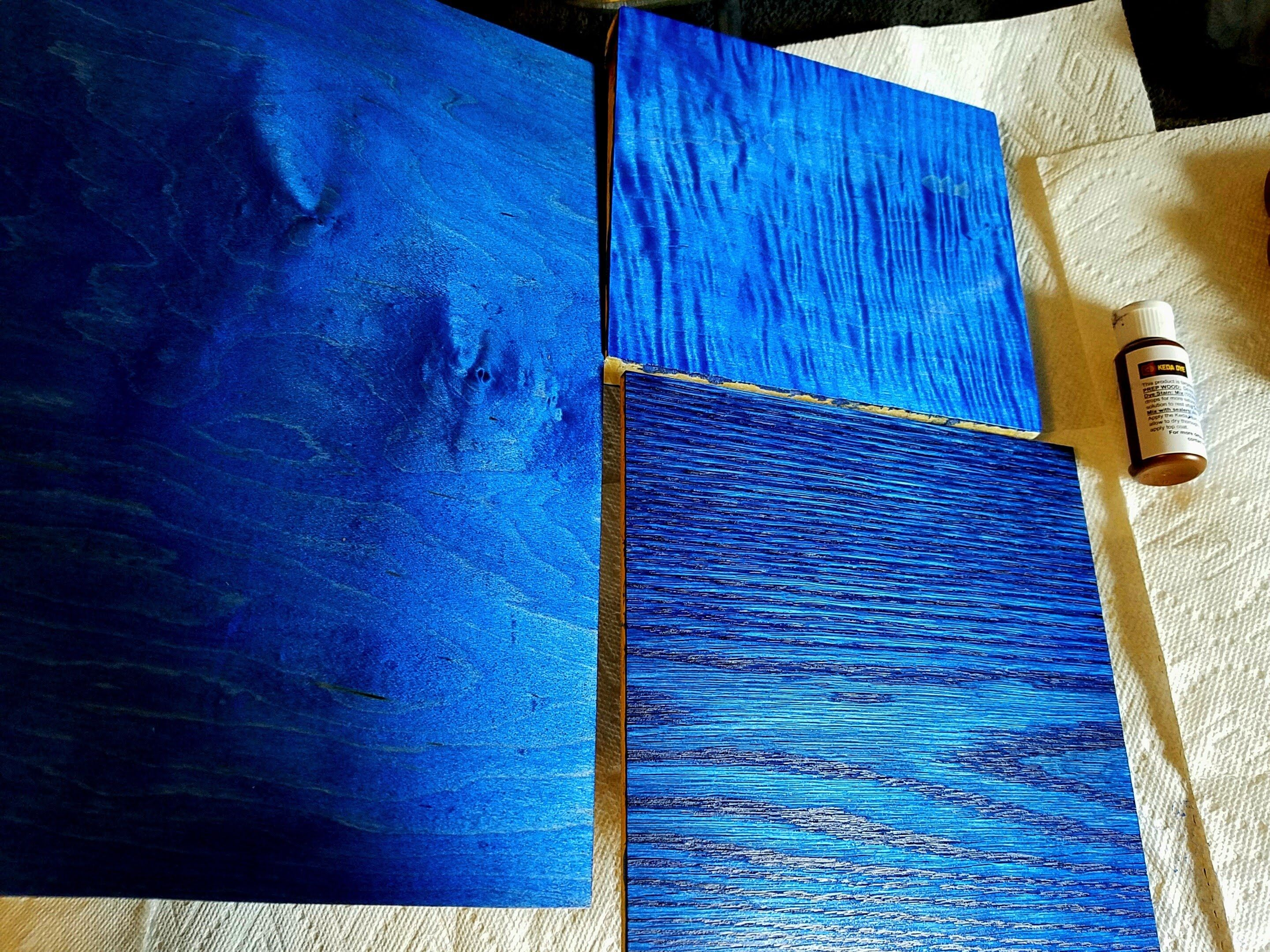 Using Wood Dyes On Maple And Oak Blue Dye Blue Wood