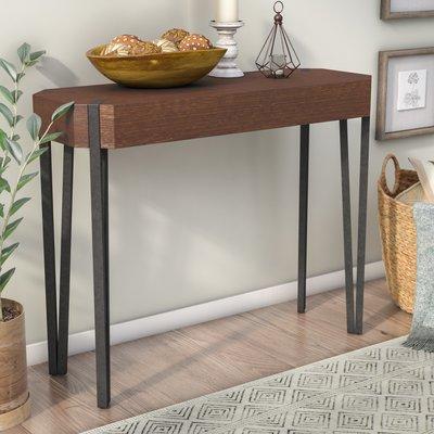 Gracie Oaks Mikesha Rectangle Console Table, Wood/