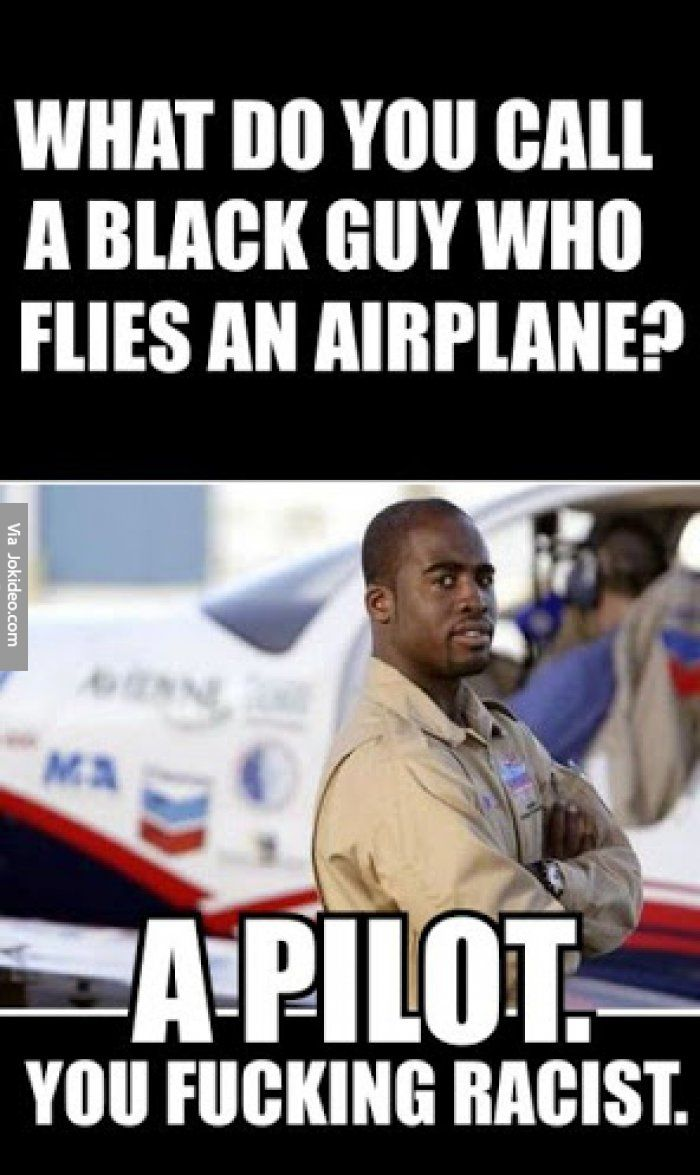 Intimidating black man meme flight
