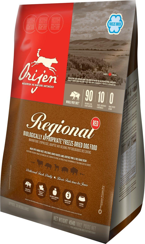 Description Orijen Regional Red Freeze Dried Dog Food Delivers All