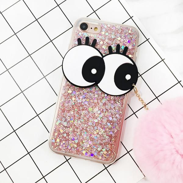 Big Eyes Glitter iPhone Cases