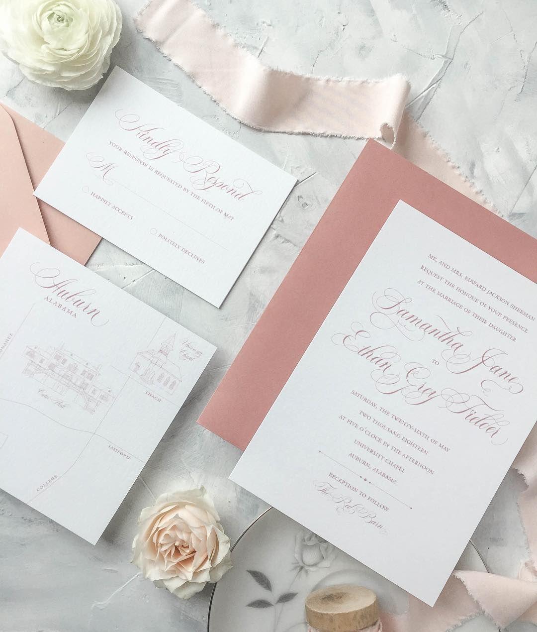 Little Fox Paperie Custom Wedding Stationery Custom Wedding