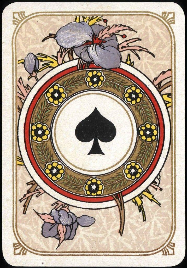 Entertainment Playing card Ace of Spades Art Nouveau