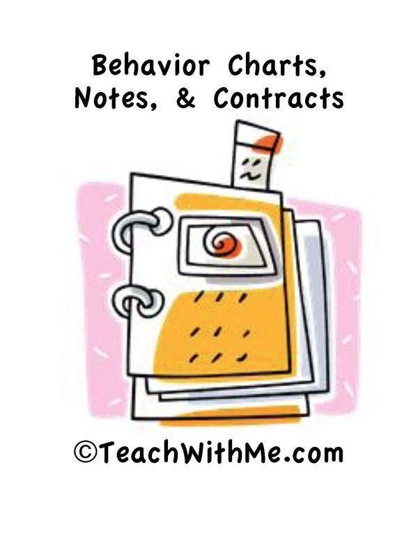 Behavior Charts, Notes, and Contracts Teaching ideas Pinterest