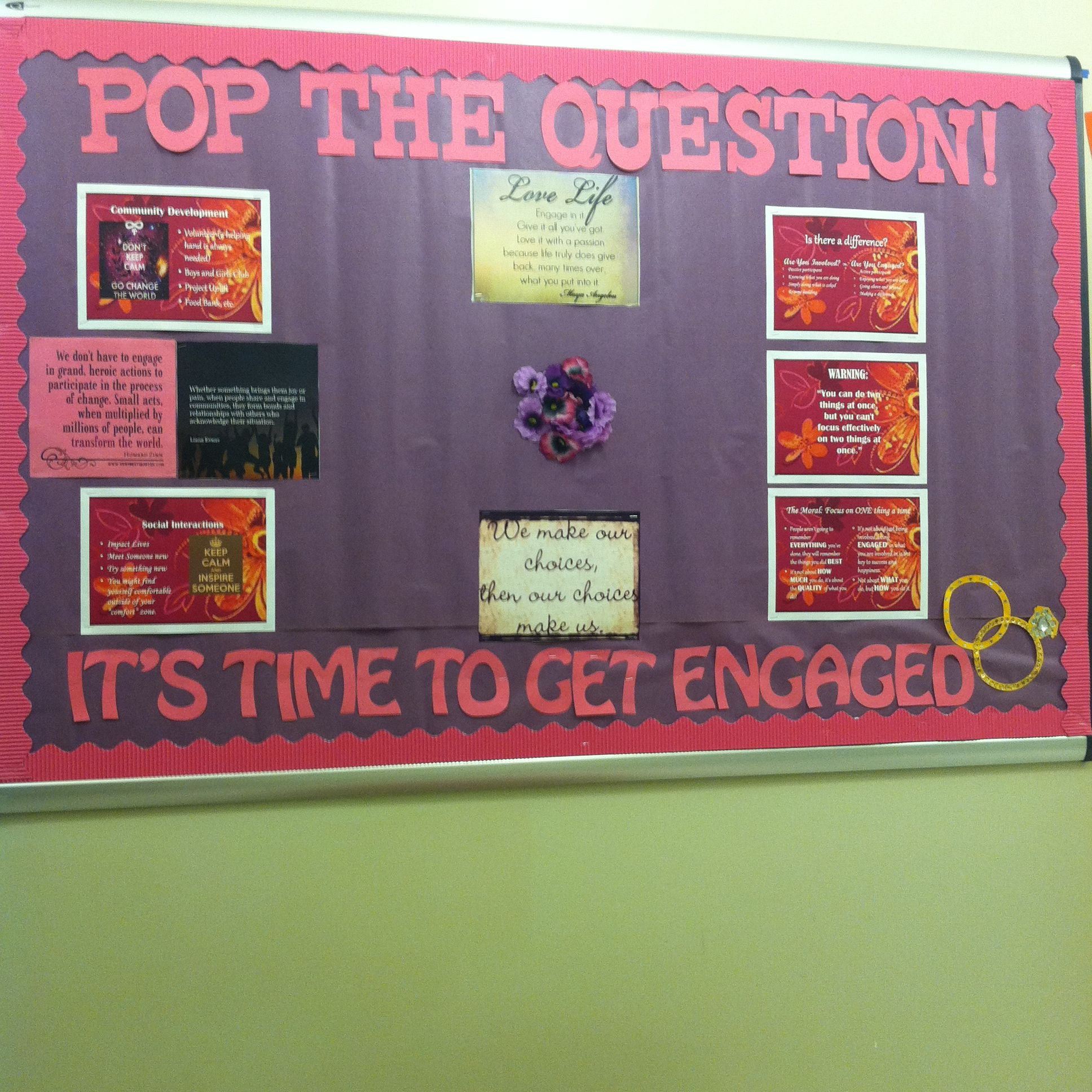 Engagement Bulletin Board Residents Pop