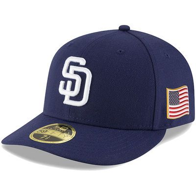 ebc32ff0bb64b San Diego Padres New Era Authentic 9 11 59FIFTY Low Profile Fitted Hat –  Navy
