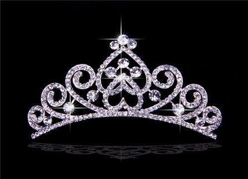 2017 New Princess Crystals Wedding Brides Crown Tiaras