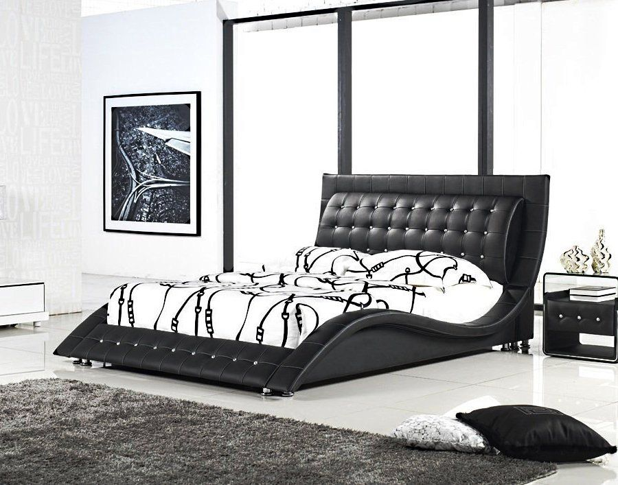 Best Dublin Contemporary Platform Bed King Size Mocha 400 x 300