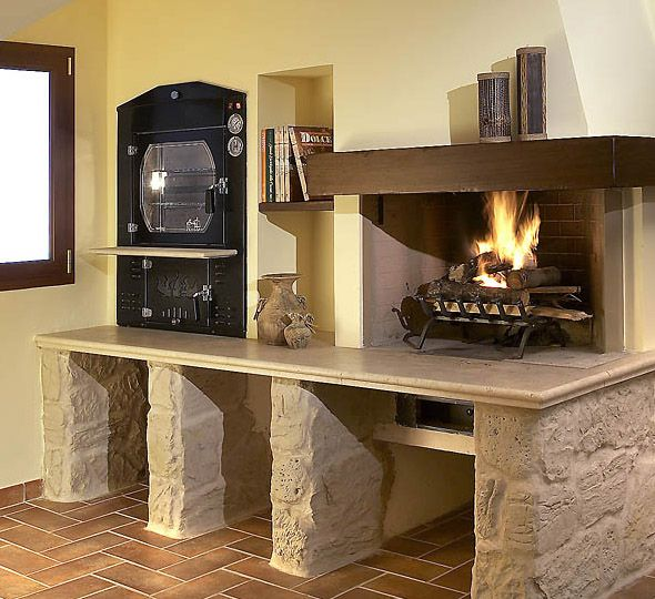 Tranq tvi60 wood oven pinterest wood oven and woods - Cucina con forno a legna ...