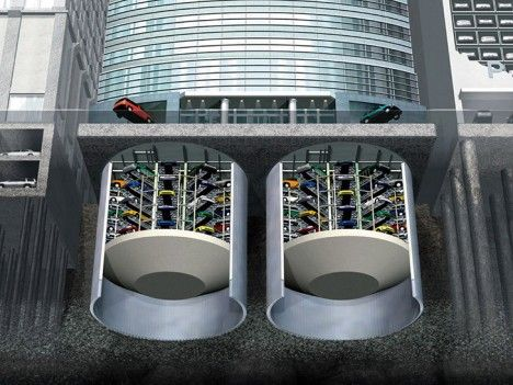 Underground Car Park Variant Smart City Car Sharing Pinterest